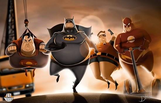 6 ภาพ Fat Heroes เมื่อฮีโร่พิทักษ์โลกอ้วนลงพุง