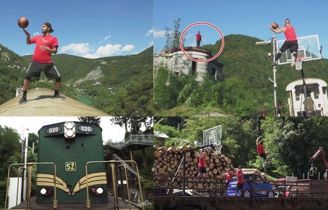 แสลมดังก์บนรถไฟ