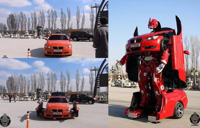 รถ BMW เเปลงร่างเป็นหุ่นยนต์