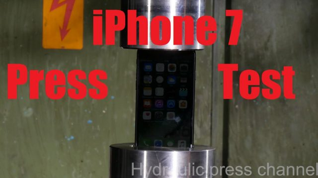 iPhone 7 Vs hydraulic press