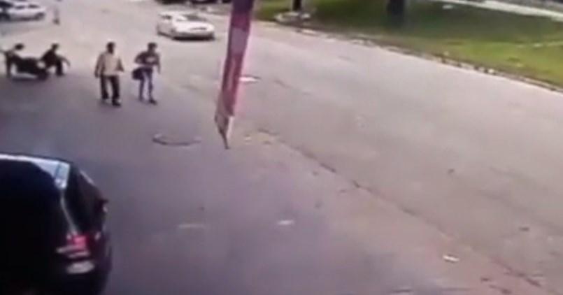 รถพ่วงล้อหลุด กระแทกใส่หัวคน
