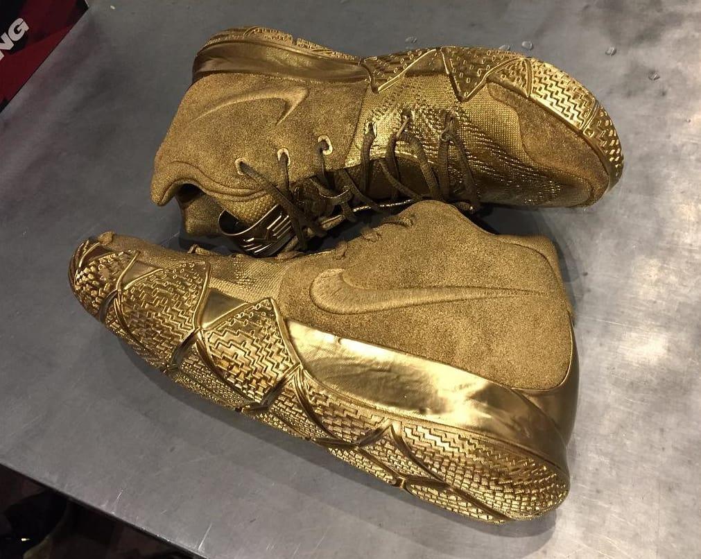 Nike Kyrie 4 Designer Gold Pair