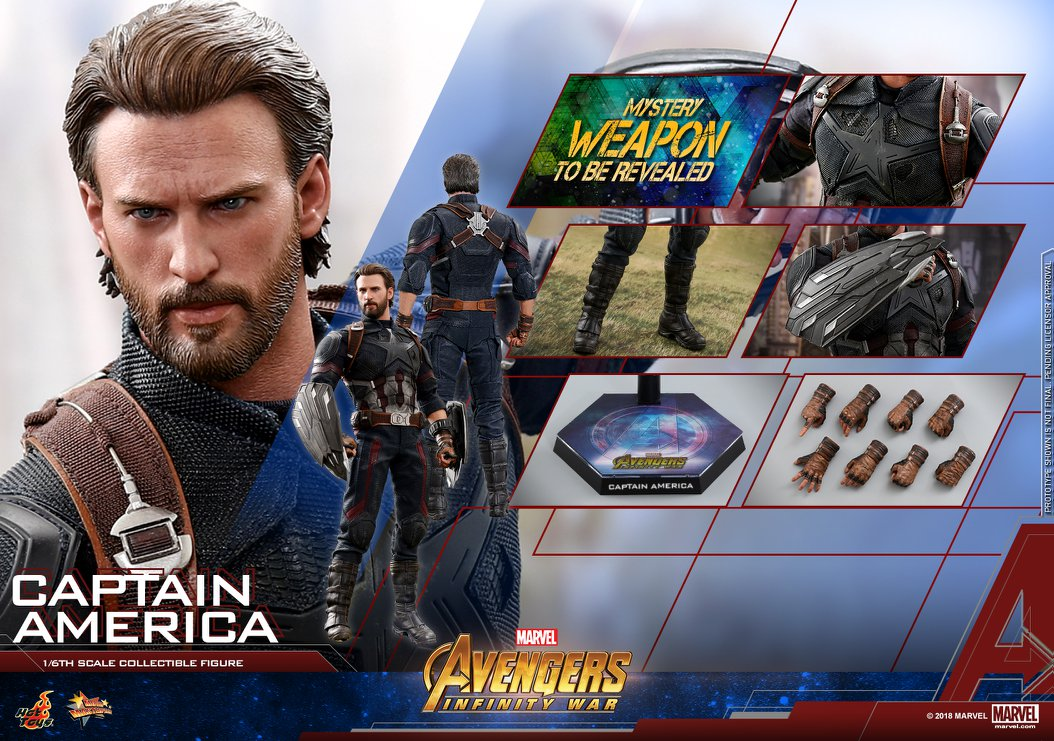 Hot toysCaptain America 1/6th scaleCollectible FigureAvengers infinity war