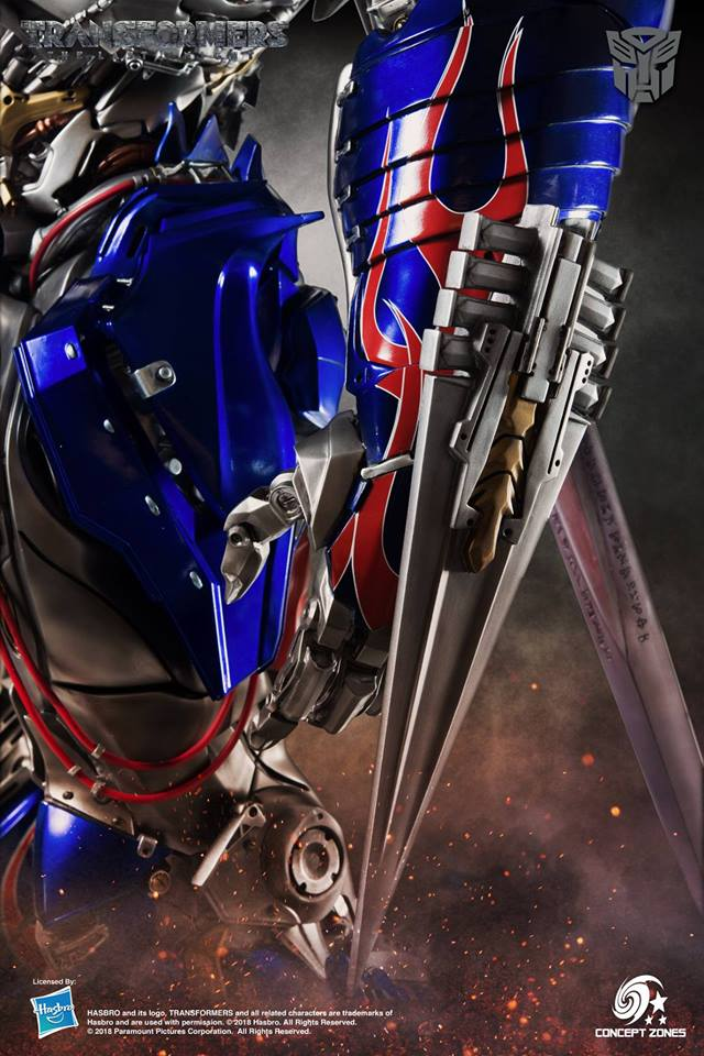 Optimus Prime: The Last Knight Statue
