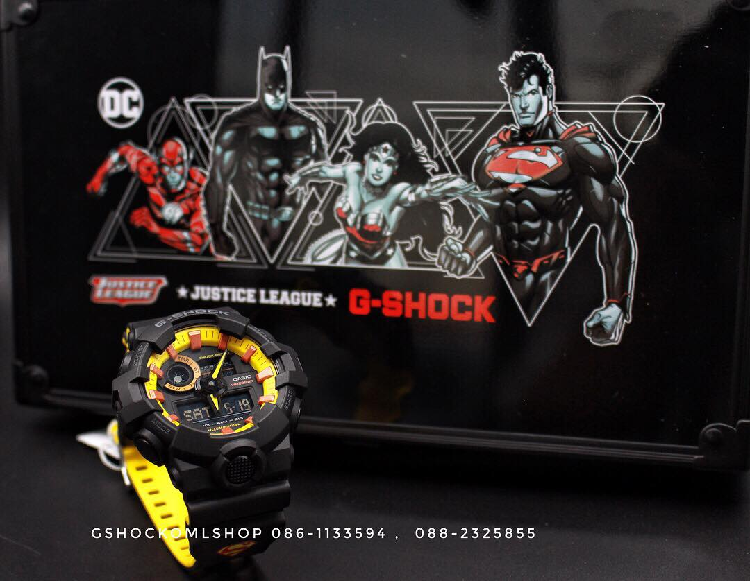รีวิว นาฬิกา Casio G-Shock Justice League GA700BY-1A Superman