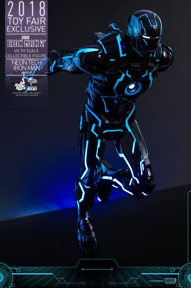 Hot toys Iron Man Mark IV Neon Tech 1/6 scale