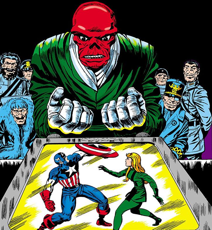 หัวกะโหลกแดง vs กัปตันอเมริกา