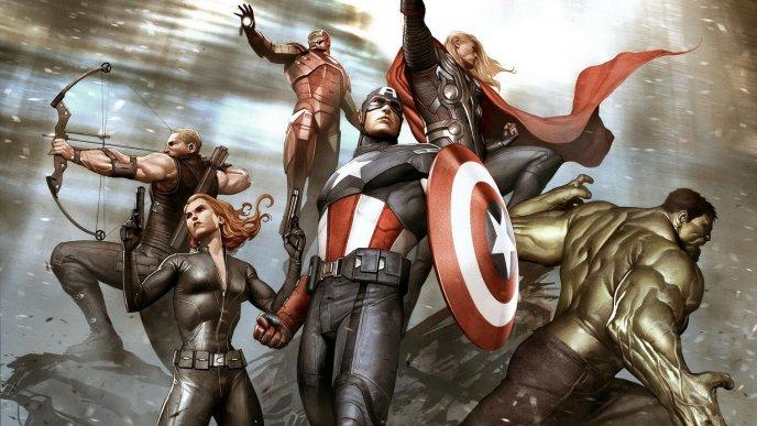 กัปตันอเมริกา ผู้นำ The Avengers