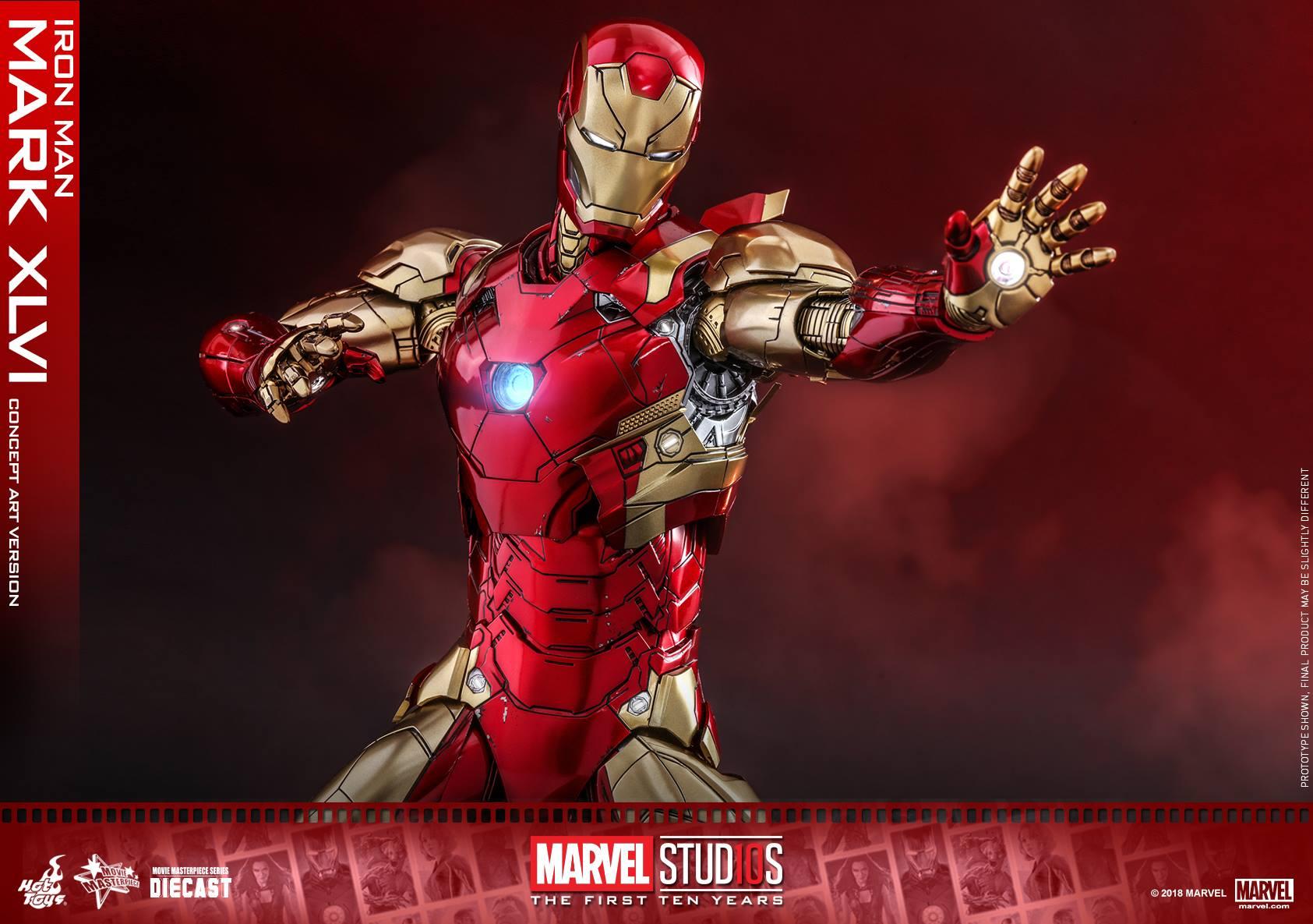 Hot toys Iron man ครบรอบ 10 ปี Marvel Studios