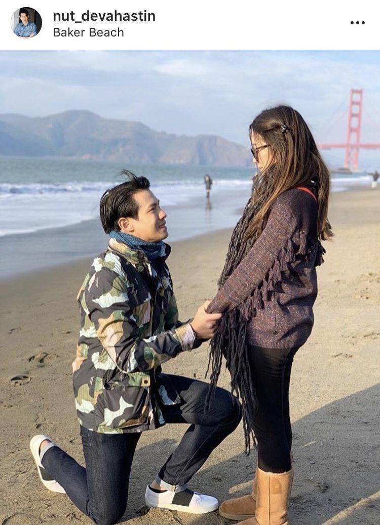 ณัฏฐ์ เทพหัสดิน คุกเข่าขอแต่งงาน