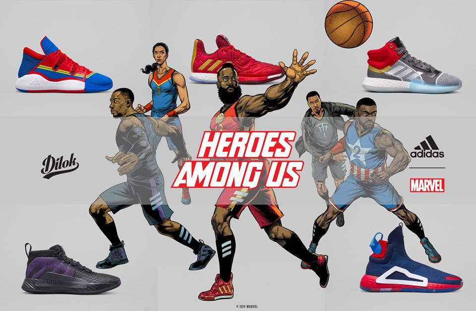 รองเท้าบาส Adidas Marvel HEROES AMONG US