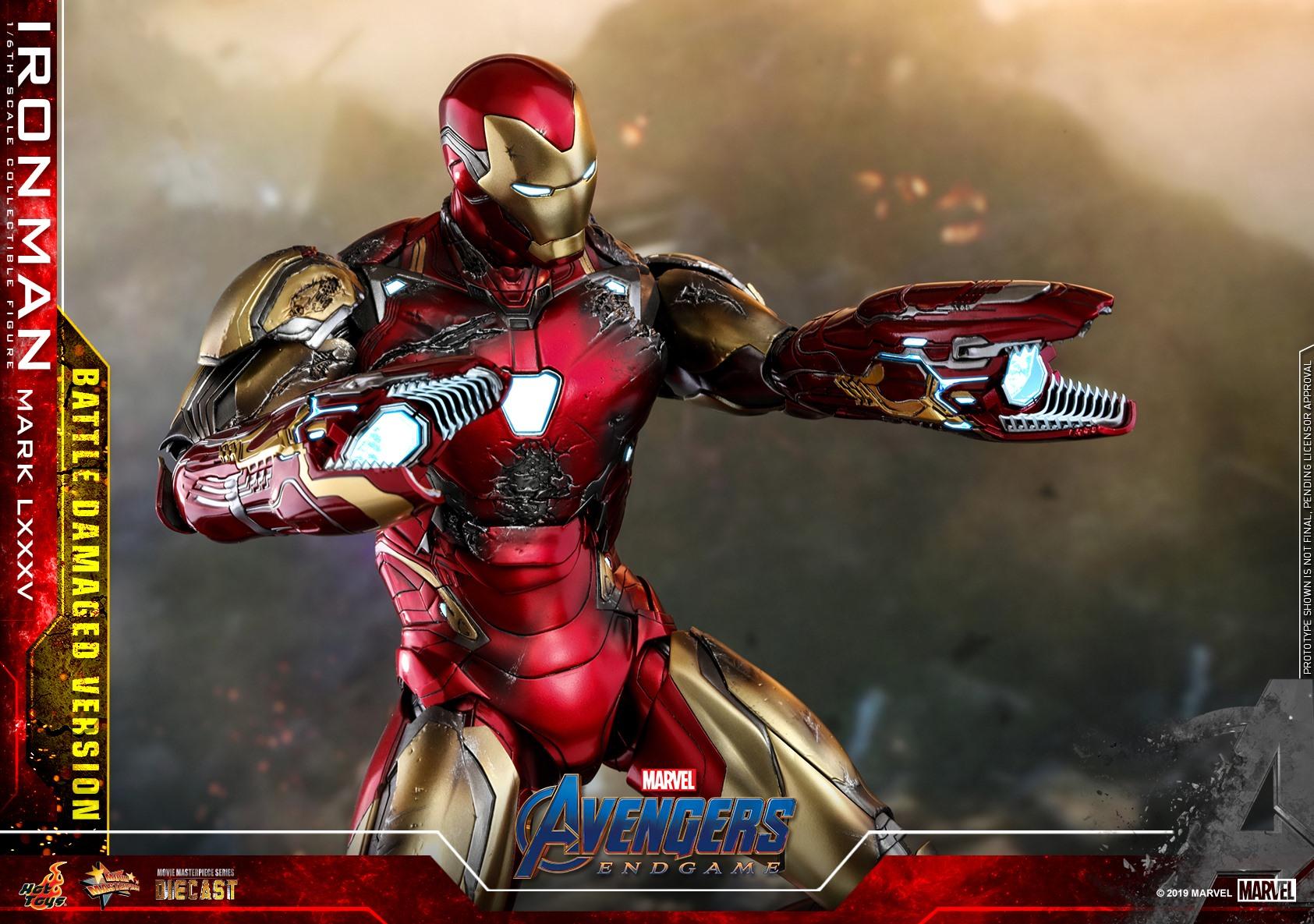 Hot toys Iron man Mark LXXXV Battle Damaged Version