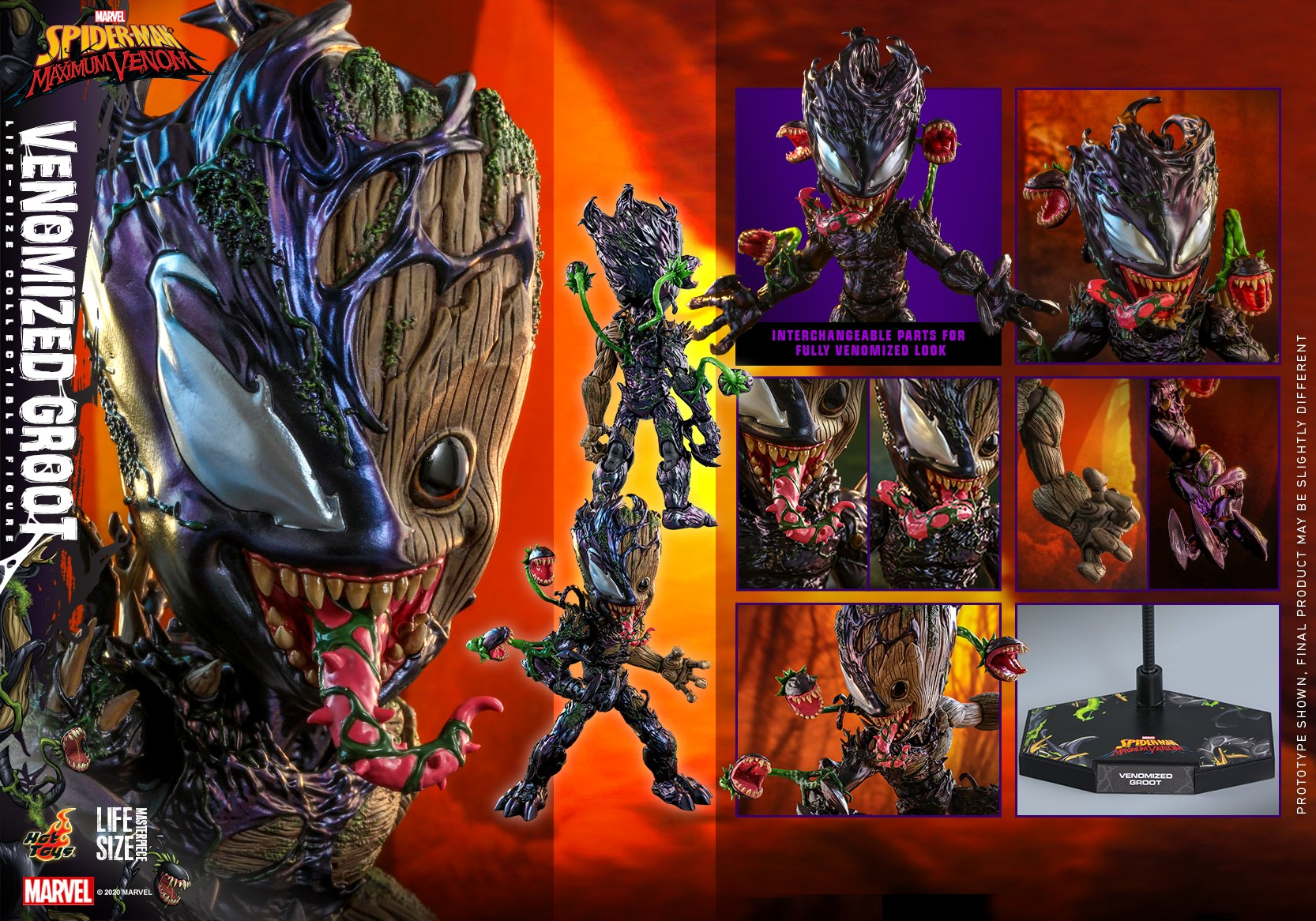Venomized Groot Life-Size Collectible Figure