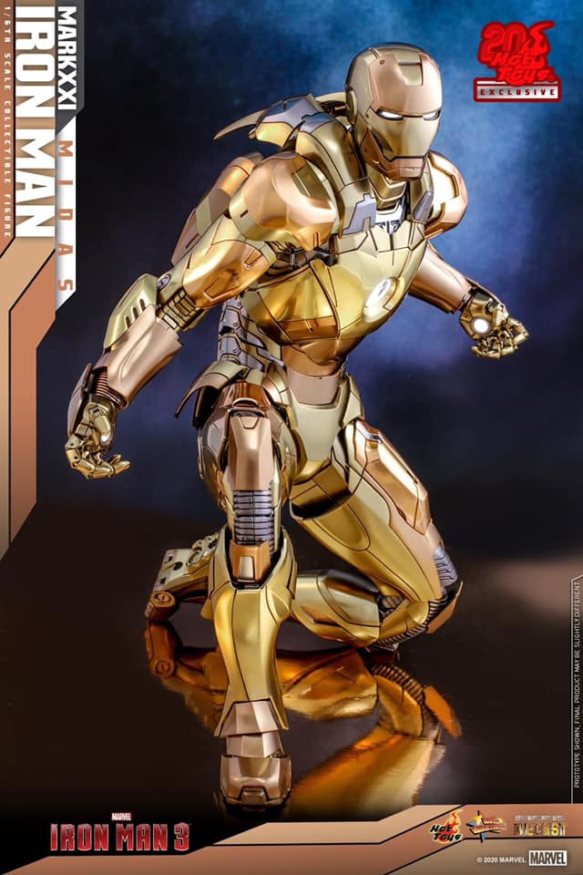 IronMan Mark 21 Midas Diecast ครบรอบ 20 ปี Hot toys