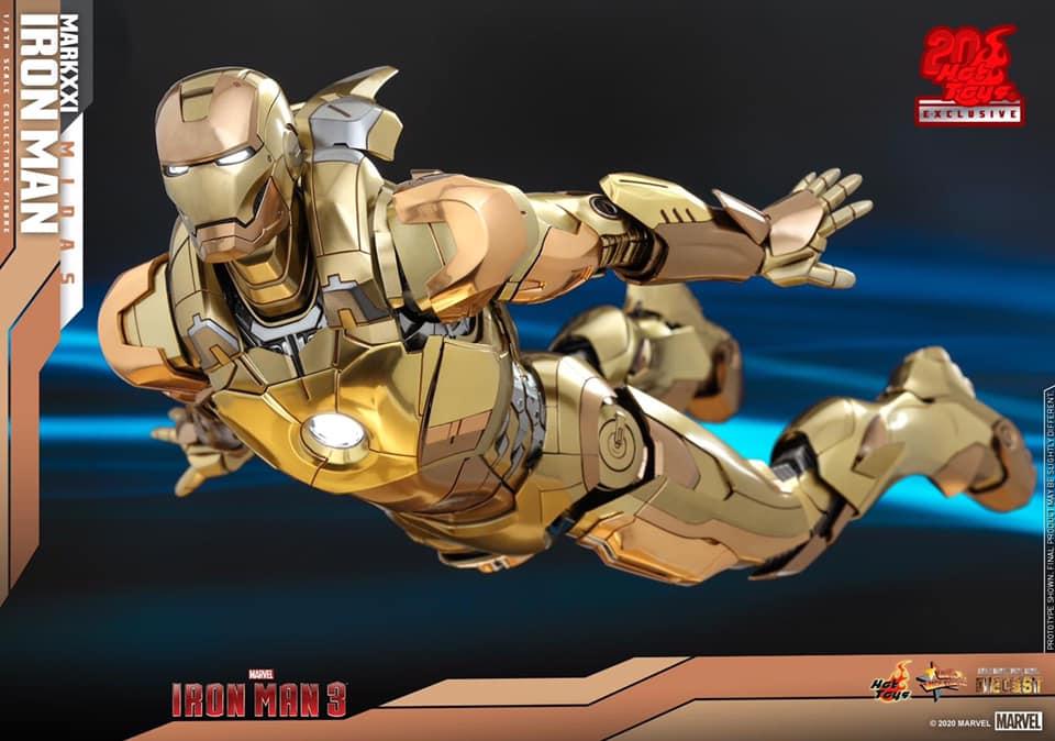 รีวิว IronMan Mark 21 Midas Diecast ครบรอบ 20 ปี Hot toys