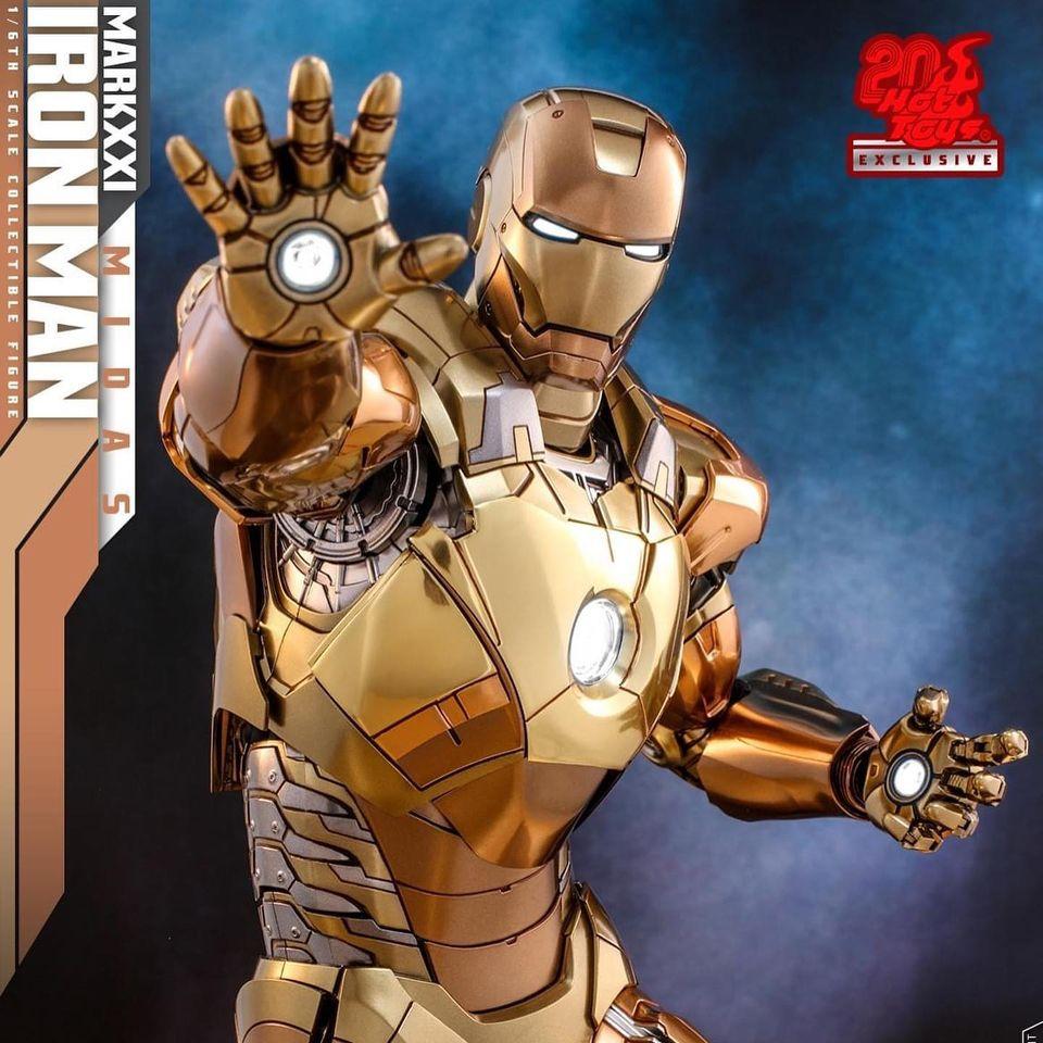 รีวิวิ IronMan Mark 21 Midas Diecast ครบรอบ 20 ปี Hot toys